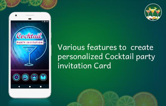 Cocktail Party Invitation Card Maker poster