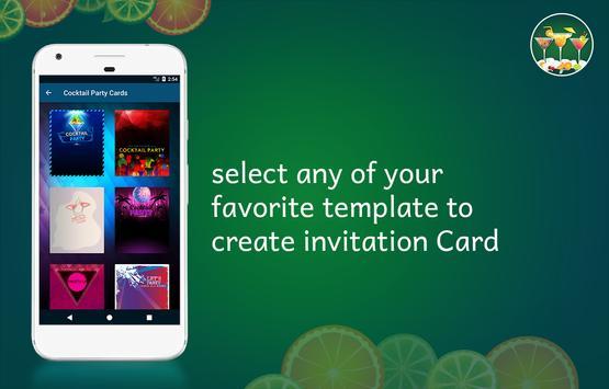 Cocktail Party Invitation Card Maker screenshot 1
