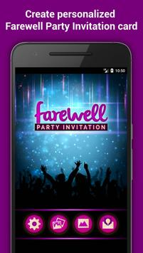 Farewell party invitation maker for android apk download farewell party invitation maker poster stopboris Choice Image