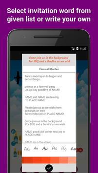 Farewell Party Invitation Maker screenshot 3