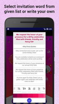 Kitty Party Invitation Maker screenshot 5