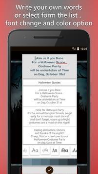 Halloween Party Invitation Card Maker screenshot 1