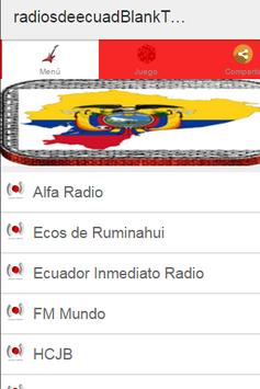 Radios de Ecuador Plus poster