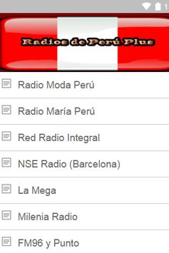 Radios de Peru Plus screenshot 2