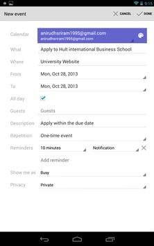 University Deadlines apk screenshot