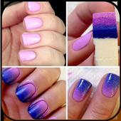 Gradient manicure icon