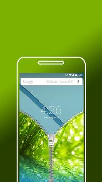 Nature RainDrops Zip Lock Screen - Zipper locker apk screenshot