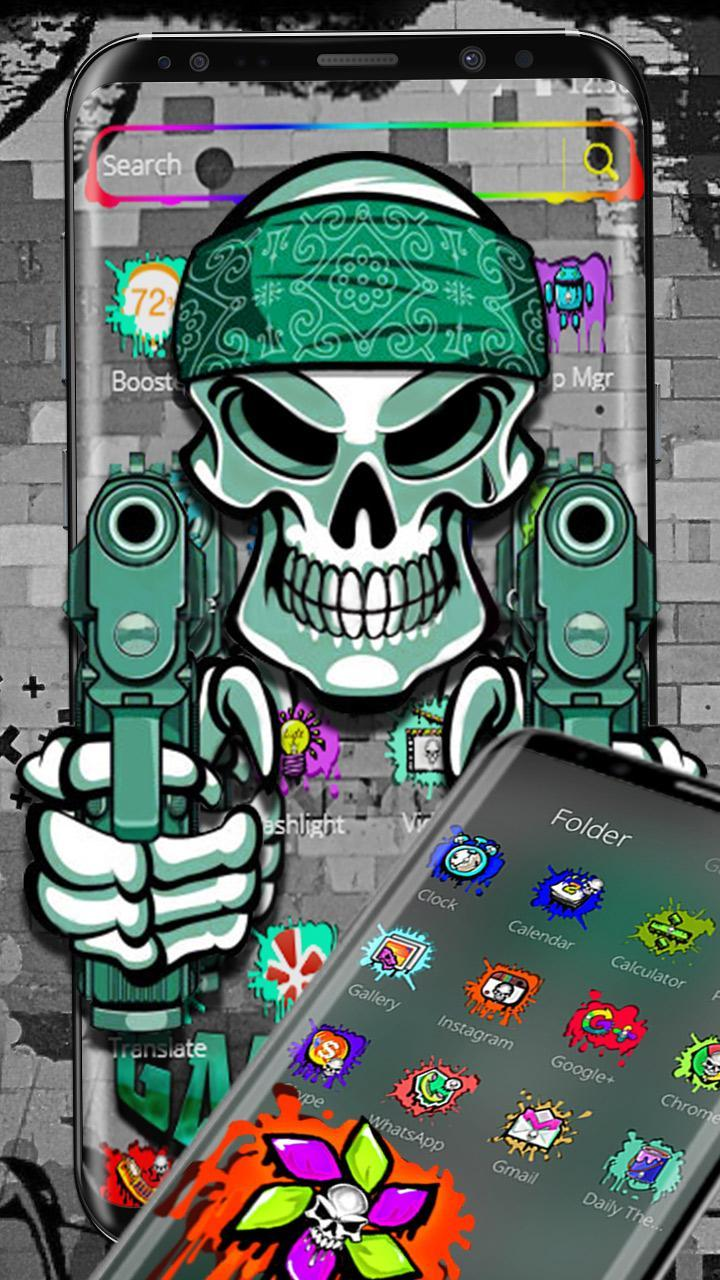 Graffiti Gangster Skull Theme For Android Apk Download