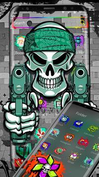 Graffiti Gangster Skull Theme screenshot 5