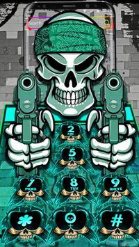 Graffiti Gangster Skull Theme screenshot 6