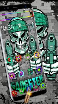 Graffiti Gangster Skull Theme screenshot 7