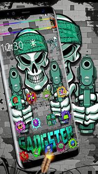 Graffiti Gangster Skull Theme poster