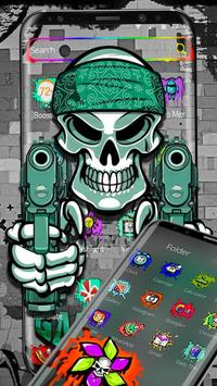 Graffiti Gangster Skull Theme screenshot 1