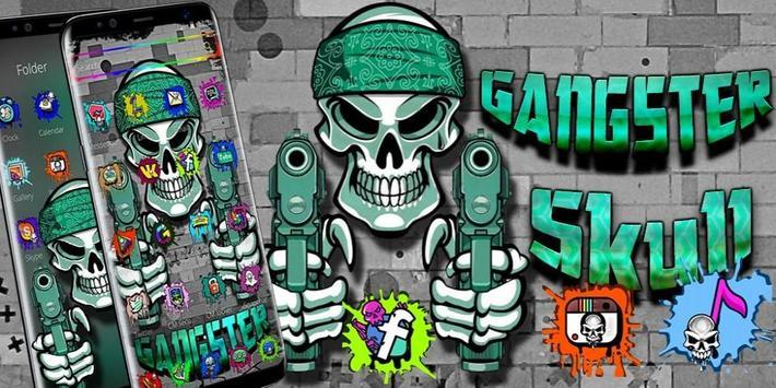 Graffiti Gangster Skull Theme screenshot 3