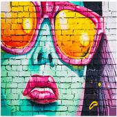 Graffiti 3d wallpaper-full Graffiti Drawings color icon