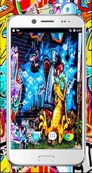 Graffiti 3d wallpaper-full Graffiti Drawings color screenshot 1
