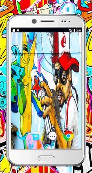 Graffiti 3d wallpaper-full Graffiti Drawings color screenshot 2