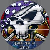 Graffiti Skull Art Design icon