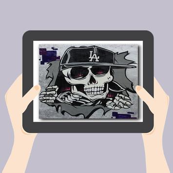 Graffiti Skull Art Design screenshot 4