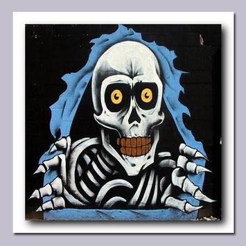 Graffiti Skull Art Design screenshot 5