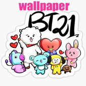 BTS WALLPAPER BT21 icon