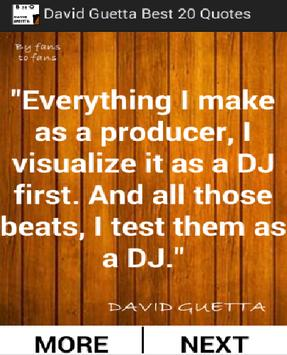 David Guetta Best 20 Quotes poster