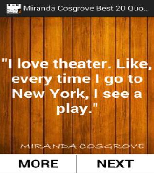 Miranda Cosgrove Best 20 Quotes poster