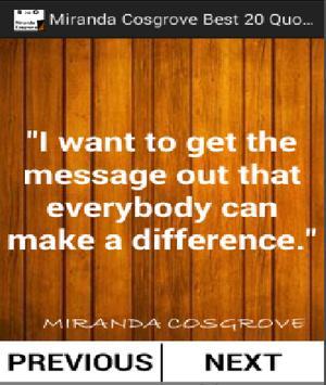 Miranda Cosgrove Best 20 Quotes screenshot 2