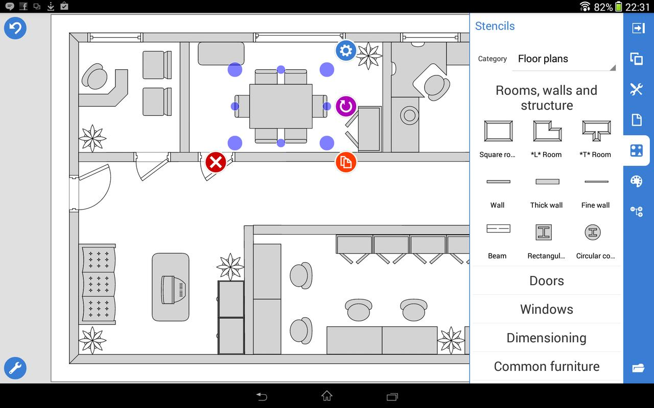 Grapholite floor plans apk download gratis produktivitas for Office floor plan app
