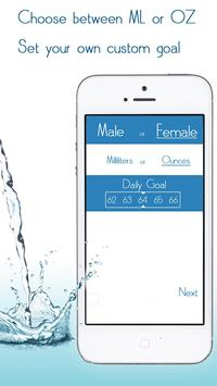 Daily Water Tracker Reminder - Hydration Log poster