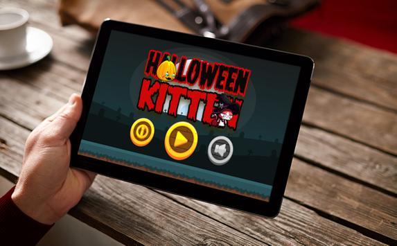 Halloween Night Kitten poster
