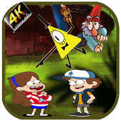 Gravity Falls Bill Cipher Wallpapers 4K icon