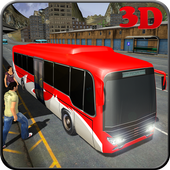 Commercial Bus City Driving 3D icon