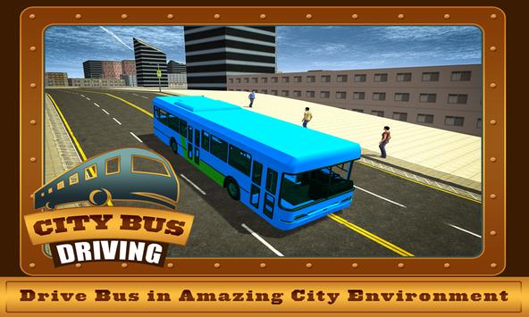 Commercial Bus City Driving 3D poster