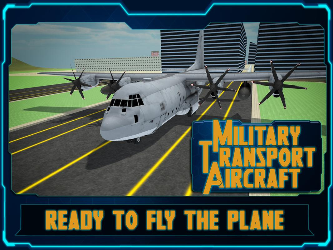 fly transport airplane 3d