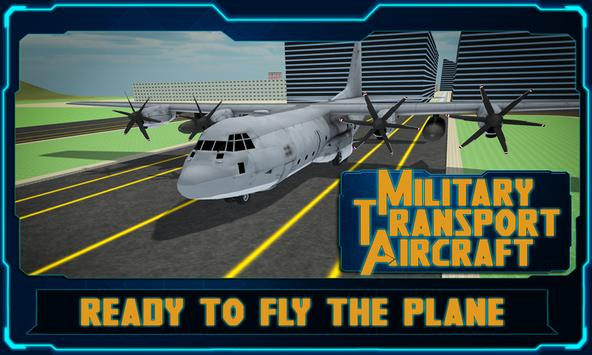 Military Transport AirCraft 3D poster