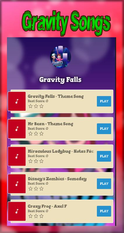 How To Play Gravity Falls On Piano Luxury Piano Chords Gravity Sara