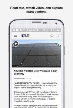 WHSV News screenshot 2