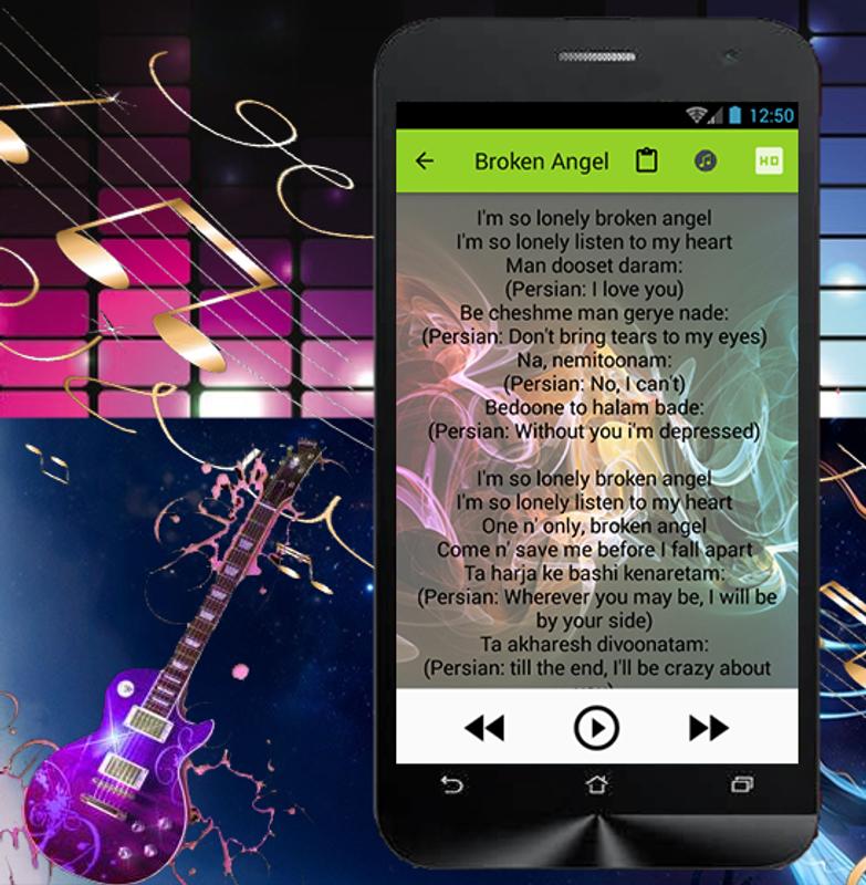Broken Angel Arash Songs Lyric для Андроид - скачать APK