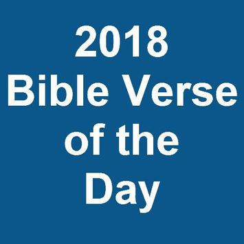 2018 Bible Verse of the Day poster