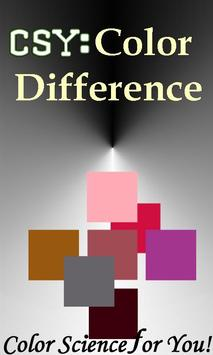 CSY: Color Difference poster