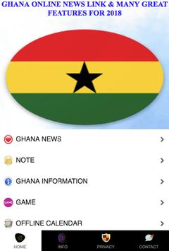 Ghana Online News Link 2018 poster