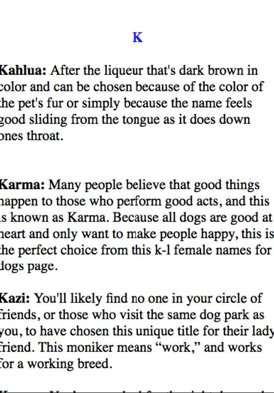 Cute Girl Names For Dogs | Babangrichie org