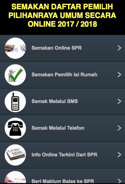 Semakan Daftar Pilihanraya 2020 For Android Apk Download