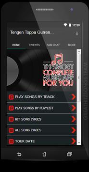 Tengen Toppa Gurren Lagann Songs & Lyrics, Update. screenshot 1