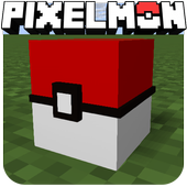 pixelmon go crafting & building: MCPE mod World 3D icon