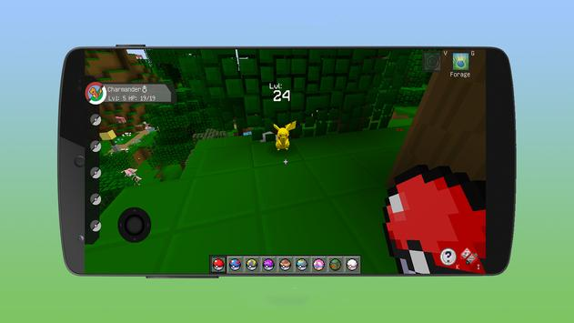 pixelmon go crafting & building: MCPE mod World 3D screenshot 3