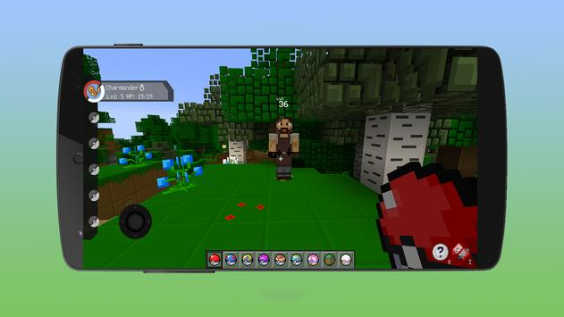 pixelmon go crafting & building: MCPE mod World 3D screenshot 12