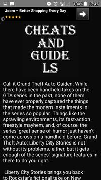 Cheat codes and guide for GTA Liberty City Stories screenshot 2