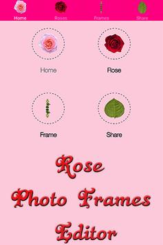 Rose Photo Frames Editor poster
